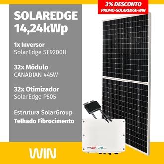 Imagem de GERADOR DE ENERGIA SOLAR 12,46KWP SOLAREDGE FIBROCIMENTO WIN