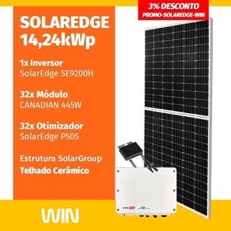 Imagem de GERADOR DE ENERGIA SOLAR  14,24KWP SOLAREDGE CERAMICO WIN